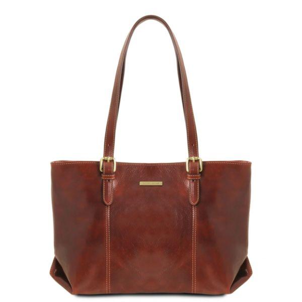 Италианска чанта от естествена кожа Annalisa TL141710